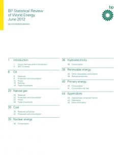 BP Statistical Review of World Energy June 2012