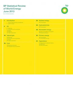 BP Statistical Review of World Energy June 2013
