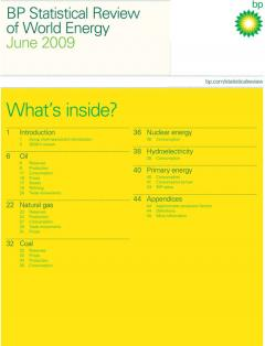 BP Statistical Review of World Energy June 2009