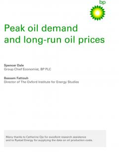 Peak oil demand and long-run prices