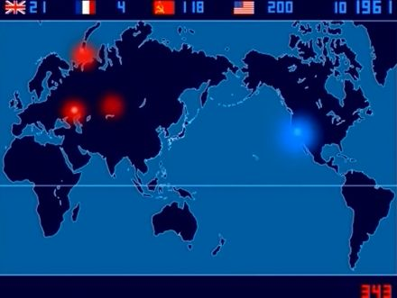 1945-1998 - A Time-Lapse Map of Every Nuclear Explosion Since 1945