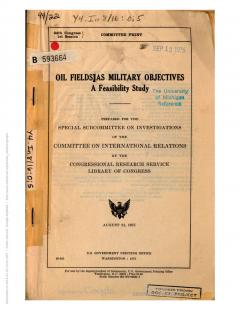 Oil fields as military objectives: a feasibility study