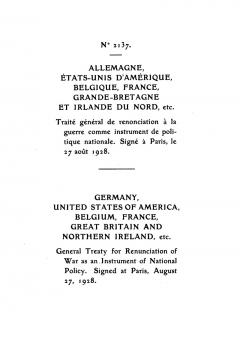General Treaty for the Renunciation of War (Briand-Kellogg-Pakt)