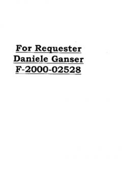 Second Reply by the CIA to Daniele Ganser concerning the FOIA Request on 'Operation Gladio'