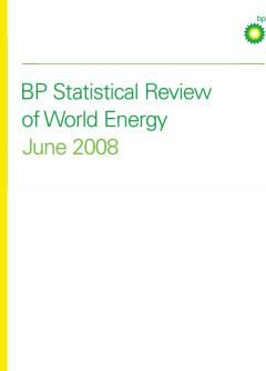 BP Statistical Review of World Energy June 2008