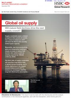 Global oil supply - Will mature field declines drive the next supply crunch?