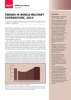 SIPRI Trends in World Military Expenditure 2014