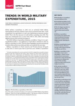 SIPRI Trends in World Military Expenditure 2015