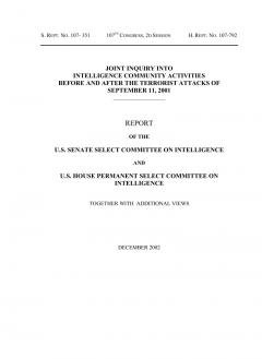 Report of the Joint Inquiry into Intelligence Community Activities before and after the Terrorist Attacks of September 11, 2001 [kompletter, zensierter Bericht]