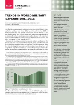 SIPRI Trends in World Military Expenditure 2016